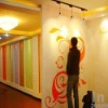 Cotton Wall coating paint, silk plaster wallcoverings superior than wallpaper
